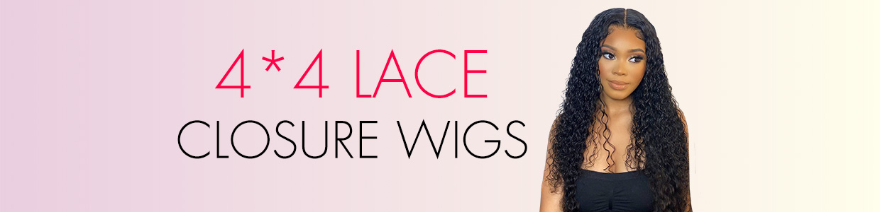 4*4 Lace Closure Wigs