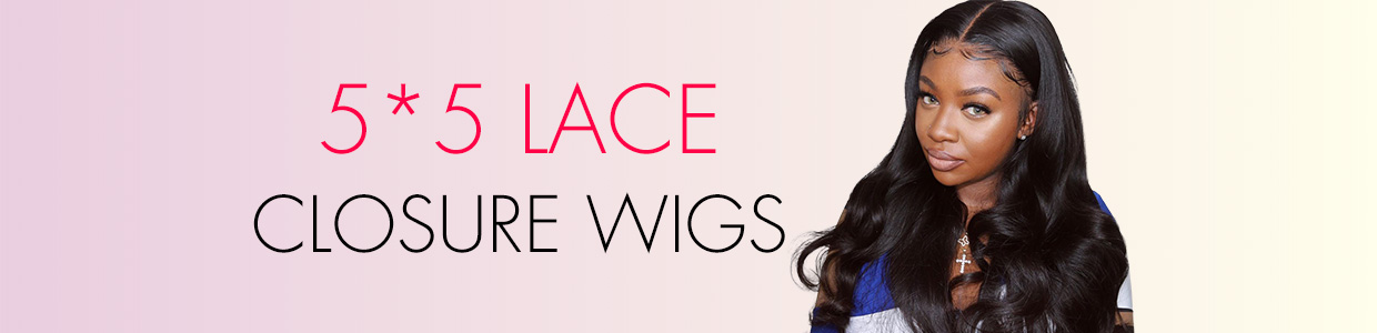 5*5 Lace Closure Wigs
