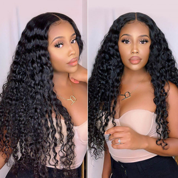 deep wave lace front wig