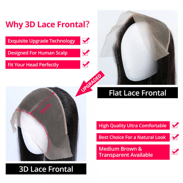 3D 13*4 Lace Frontal