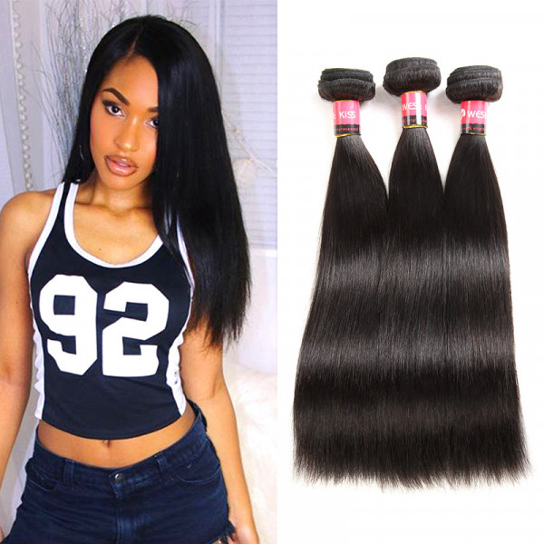 Peruvian Straight Virgin Hair 3 Bundles