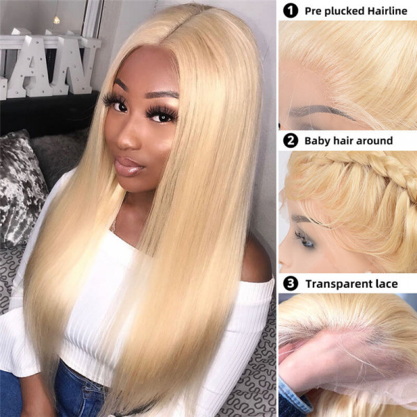 Straight Blonde Wigs