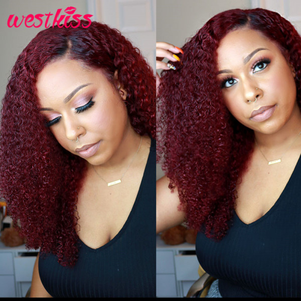 Burgundy Curly Wigs