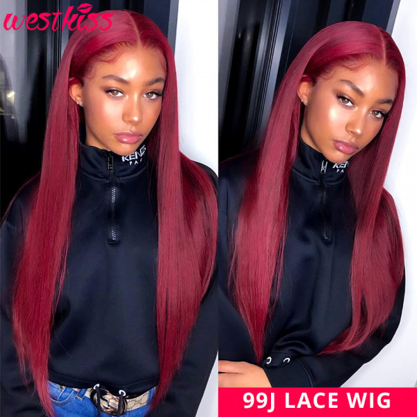straight colored wigs