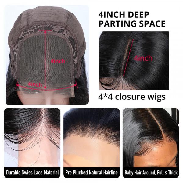 4*4 Lace Closure Wigs