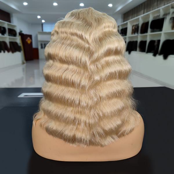 Middle Part Crimp Bob Hairstyle