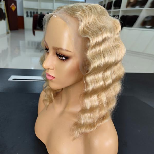 Blonde Crimped Wig