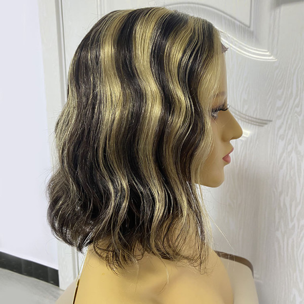 bob wig with highlights
