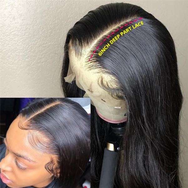 Long Human Hair Wigs 6*6 Closure Wigs