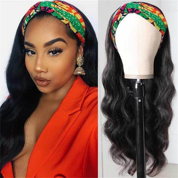 Body Wave Head band Wigs