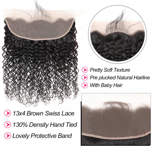 Curly Hair Lace Frontal