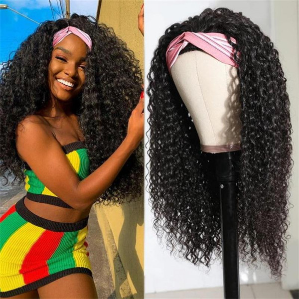 Curly Head Band Wigs