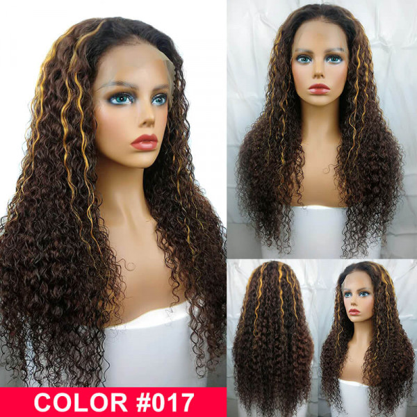 Curly Hair Highlight Wigs