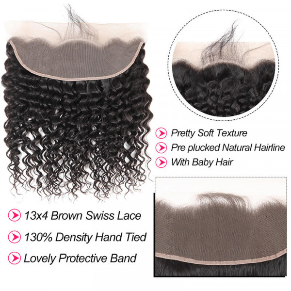 Deep Wave 13*4 Lace Frontal