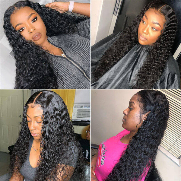 Deep Wave Fake Scalp Wig