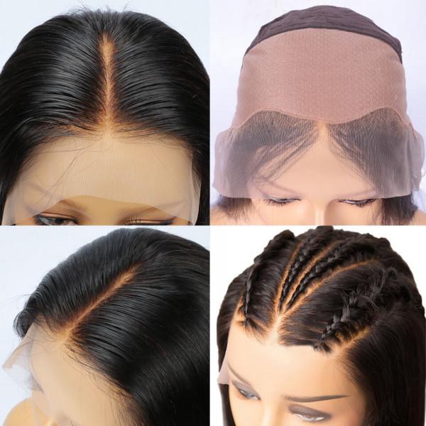 Deep Wave Fake Scalp Wigs