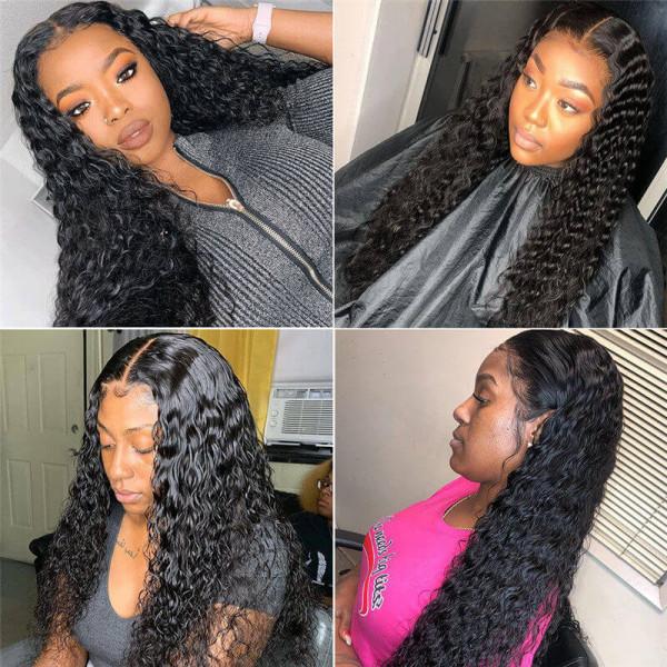 Natural Wave Fake Scalp Wig