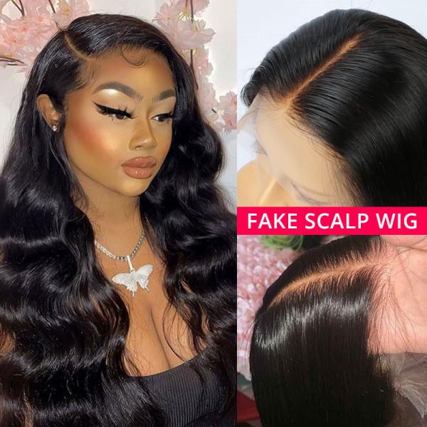 13x6 Fake Scalp Wigs