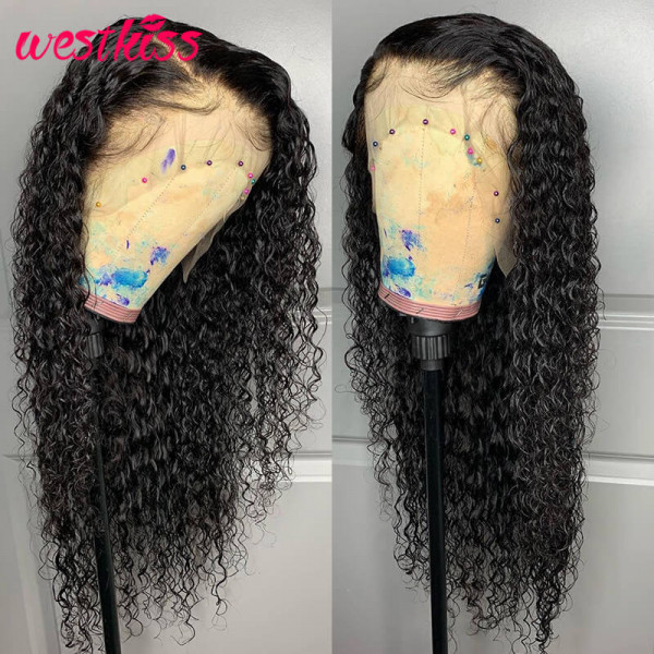 Curly Fake Scalp Wigs