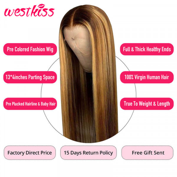 Straight Hair Ombre Wigs