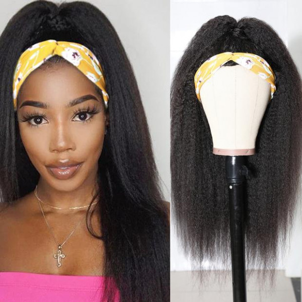 Kinky Straight Headband Wigs