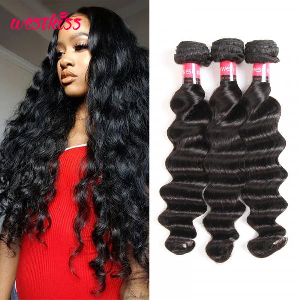 Brazilian Loose Deep Wave Virgin Hair 3 Bundles