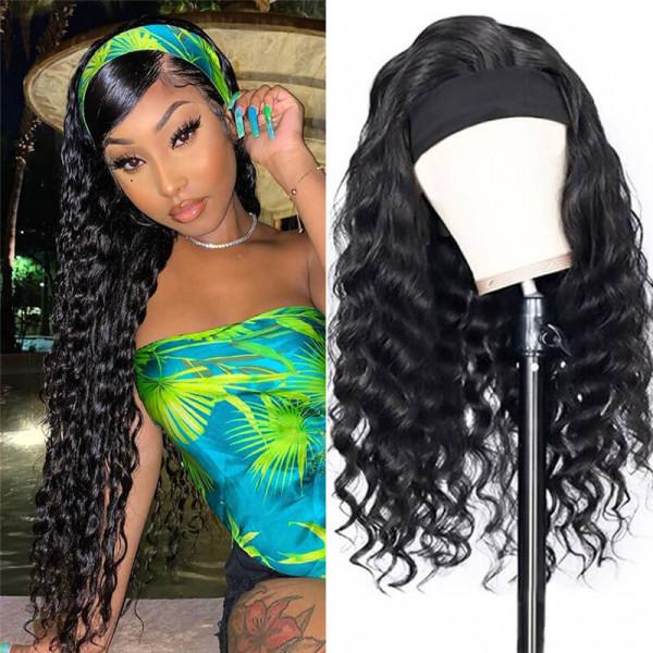 Loose Deep Wave Headband Wigs