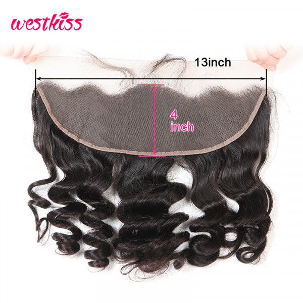 13*4 Human Hair Lace Frontal Closure