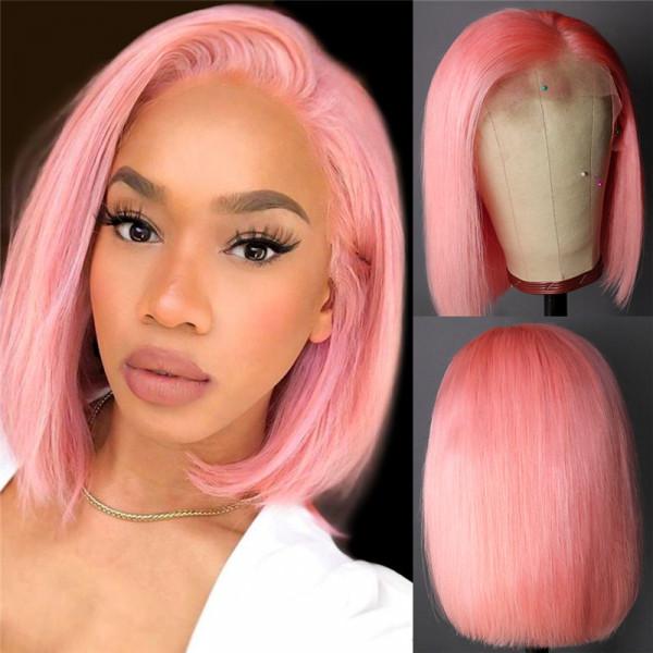 Pink bob wigs