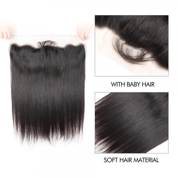 Straight Virgin Hair Lace Frontal Closure