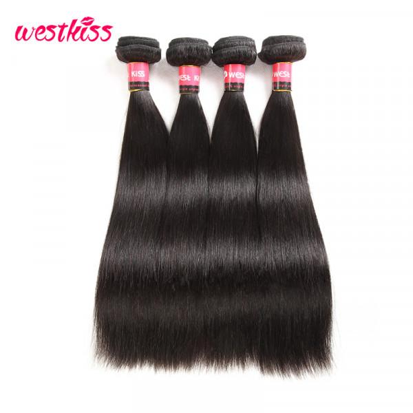 Peruvian Virgin Hair Straight 4 Bundles