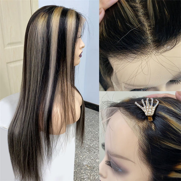 Straight Highlight Lace Front Wig