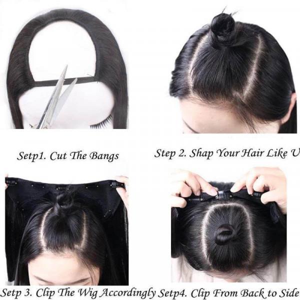 U Part Wigs Human Hair