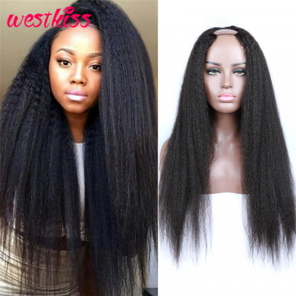 Kinky Straight  U Part Wigs Human Hair Wigs