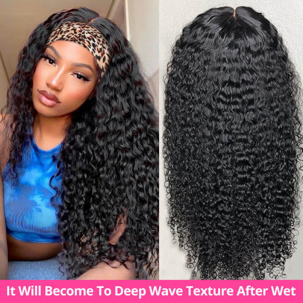 Wet N Wavy Deep Wave Headband Wigs