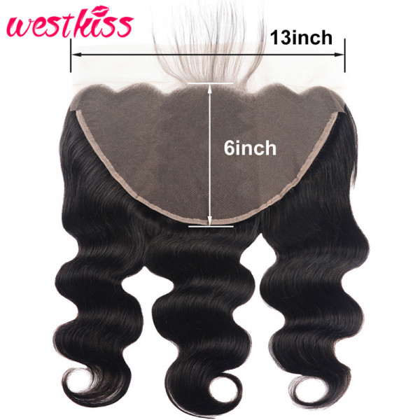 13*6 Lace Frontal Closure Brazilian Body Wave Human Virgin Hair