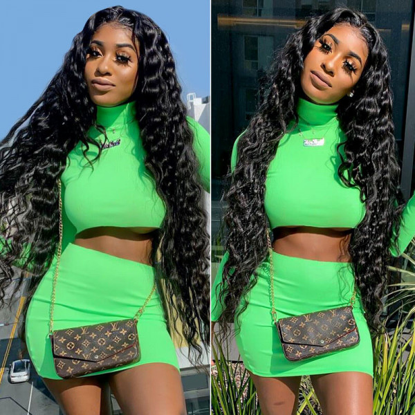 Long Lace Wigs 16-36 Inches Loose Deep Wave Long Wavy Lace Front Wigs