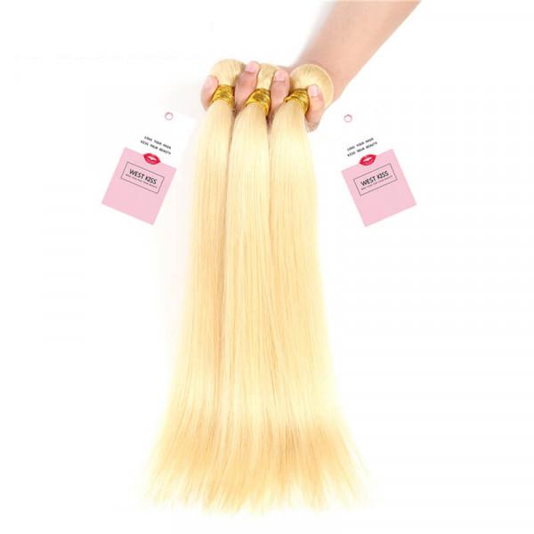 Malaysian Hair Weave Bundles Blonde Human Hair Straight Virgin Hair 3 PCS
