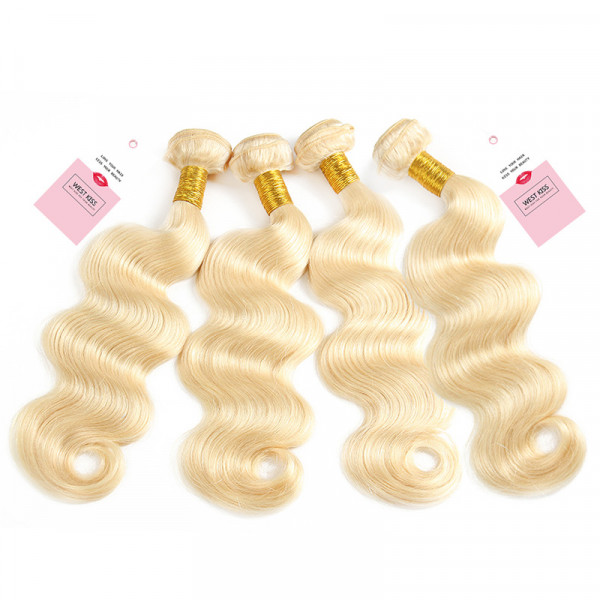 613 Blonde Virgin Hair Bundles Body Wave Weave 4 Bundles/Lot