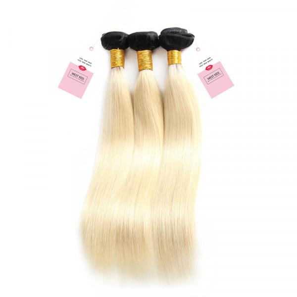 #1B/613 Brazilian Virgin Hair Straight 3 Bundles Ombre Human Hair Weave