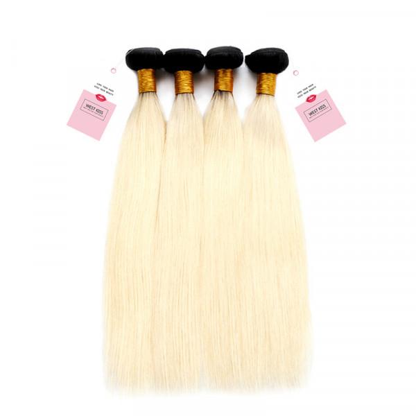 Ombre Human Hair Bundles 1B/613 4 Bundles Brazilian Straight Hair Bundles Deal
