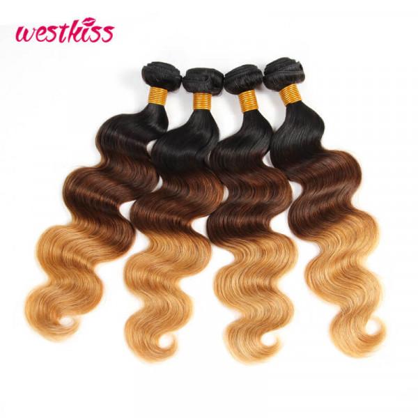 Ombre Body Wave 4 Bundles 1B/4/27 Virgin Human Hair Ombre Hair Weave