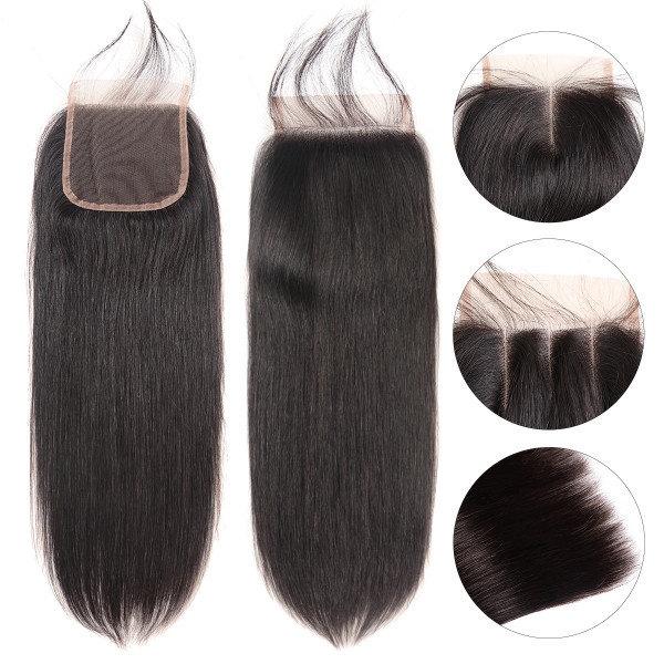 West Kiss Peruvian Hair Virgin Straight Hair Cheap Hair Closures 4x4 Lace Closures