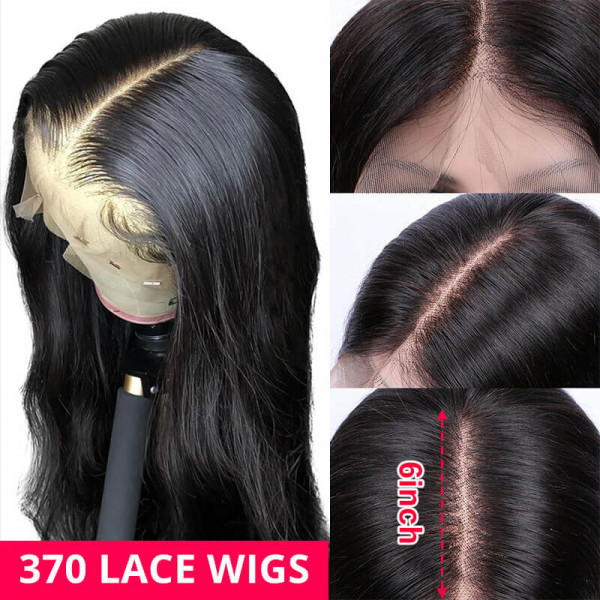Body Wave 370 Lace Frontal Wigs Cheap Human Hair Lace Front Wigs