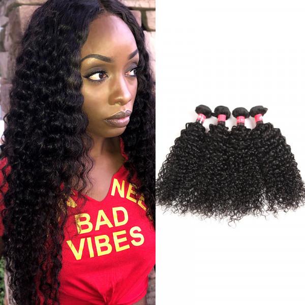 8A Brazilian Kinky Curly Hair 4 Bundle Deals Brazilian Deep Curly Virgin Hair