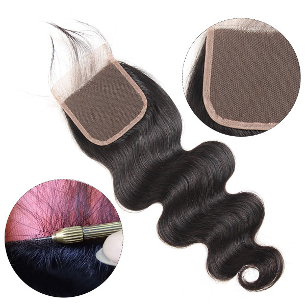 West Kiss Brazilian Body Wave 4x4 Hair Closures Body Wave Closures