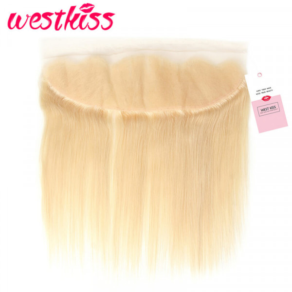 #613 Blonde Straight Virgin Hair with 13*4 Lace Frontal Closure