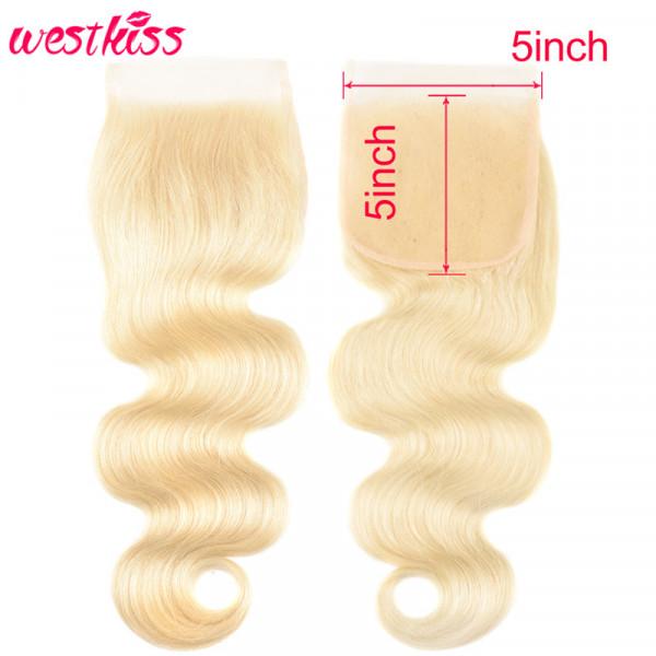 Body Wave 5*5 Lace Closures Blonde Body Weave 613 Color Swiss Lace 5x5 Lace Closure