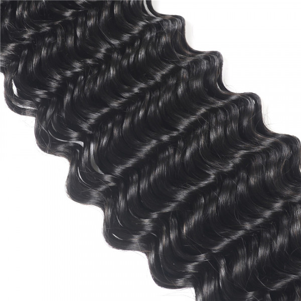 Virgin Brazilian Hair 4*4 Lace Closures Loose Deep Wave