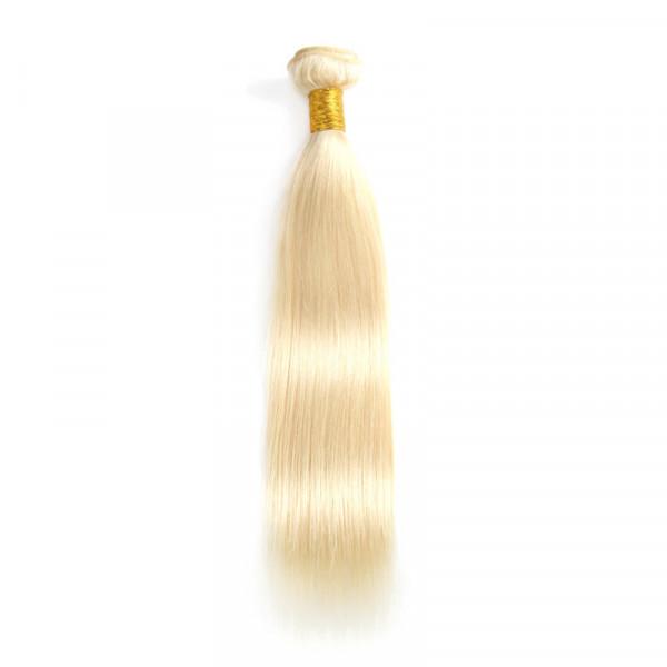 613 Color Straight Virgin Hair Blonde Weave Hair 1 Pc Blonde Hair Bundles